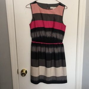 Ann Taylor Loft Striped Petite Dress Size XXS